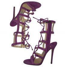 1b31a3d74b485a JIMMY CHOO Purple Suede Sandals Purple Suede