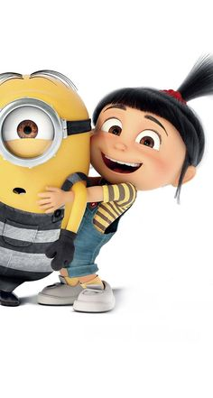 Despicable Me 3 Poster - Agnes and Minion Minion Wallpaper Iphone, Disney Phone Wallpaper, Cellphone Wallpaper, Cute Cartoon Wallpapers, Cartoon Pics, Agnes Despicable Me, Cute Minions, Disney Art, Disney Ideas