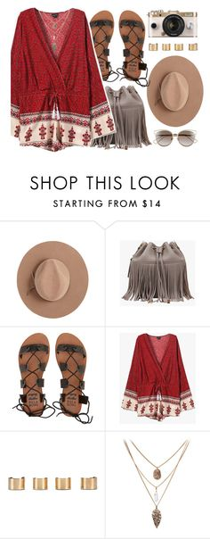 """""""Coachella"""" by genuine-people ❤ liked on Polyvore featuring Satya Twena, Billabong, Urban Outfitters, Maison Margiela, Christian Dior, red and coachella"""