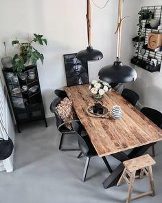 Kitchen Interior Inspiration, Dining Room Inspiration, Home Decor Inspiration, Interior Design Living Room, Living Room Decor, Esstisch Design, Dinner Room, Small Room Bedroom, Dining Room Design
