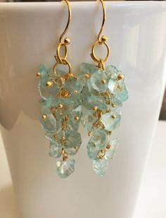 A personal favorite from my Etsy shop https://www.etsy.com/ca/listing/520772946/blue-topaz-beaded-cluster-earrings-raw