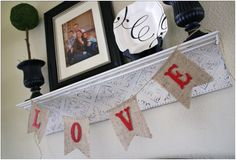 burlap banner with glitter letters tutorial