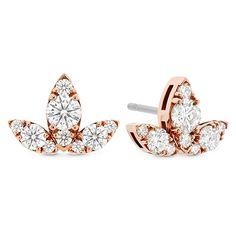 Aerial Triple Diamond Stud Earrings L