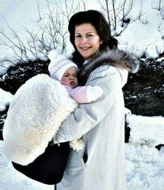 Queen Silvia and Princess Madeleine.