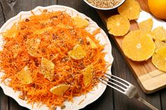 Carrot, orange and sesame salad – Have a Go News Superfood, Cauliflower, Macaroni And Cheese, Oriental, Snack Recipes, Curry, Chips, Food And Drink, Menu