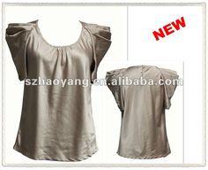 fake de seda de cetim puff manga curta das senhoras blusa casual fabricante-Blusas e tops femininos-ID do produto:540708037-portuguese.alibaba.com