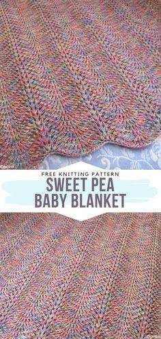 Baby Knitting Patterns, Free Baby Blanket Patterns, Knitting Stitches, Free Knitting, Sock Knitting, Knitting Machine, Vintage Knitting, Knitting Needles, Stitch Patterns
