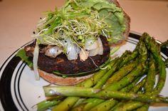 Black bean burgers grilled #vegan