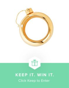 Win the only bangle (flask) you need this summer from Keep and Cynthia Rowley #keepitwinit