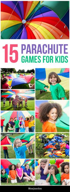 Fun Parachute Games And Activities For Kids Top 15 Parachute Games For Kids: gear up for some fun with these 15 parachute games for your kids.Top 15 Parachute Games For Kids: gear up for some fun with these 15 parachute games for your kids. Parachute Games For Kids, Group Games For Kids, Outdoor Games For Kids, Games For Teens, Children Games, Outdoor Toys, Fitness Games For Kids, Kids Camp Games, Parachute Songs