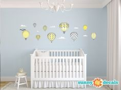 Hot Air Balloons Wall Decals Standard Sunny Balloon