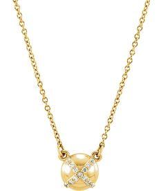 Diamond X Circle Necklace - Stuller, Inc.  #jalinjewelers
