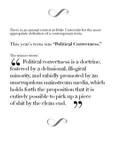 political correctness...