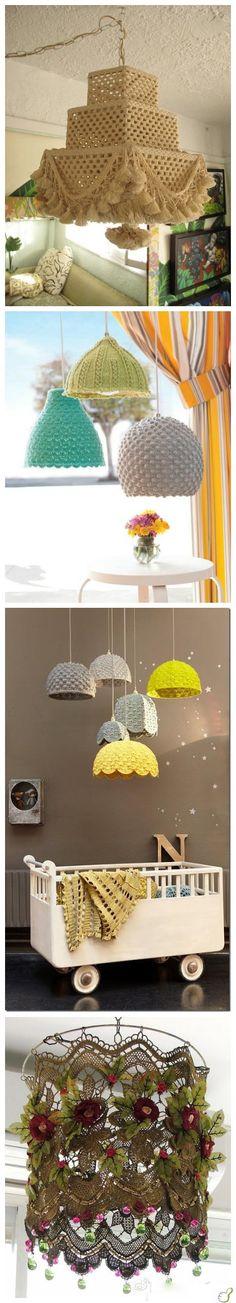 luminárias de croche