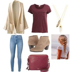 Maroon outfit!