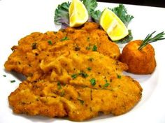 Frank Sinatra's Veal Milanese - I've made this for years but I always add fresh minced Garlic