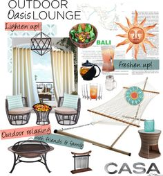 """""""Outdoor Oasis Lounge with Casa.com!"""" by beautifullylovely on Polyvore"""