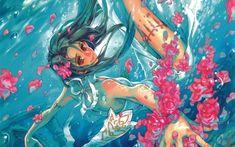 Картинки по запросу девушка в воде