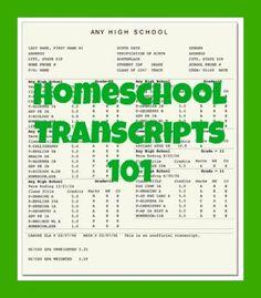 Homeschool Transcripts 101   LetsHomeschoolHighschool.com
