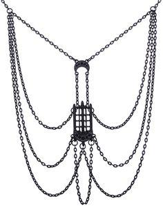 Restyle Lucifer Black Hairclip Barrette Occult Sygil Jewelry Goth Bat Pentagram