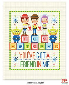 Toy Story Quote Cross stitch pattern PDF You've por redbeardesign