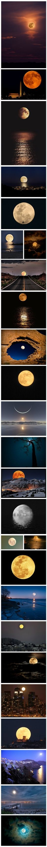 """I love looking at the moon, and I love that you always see the same side of it. You have to be in another part of the world to see a new side.  """"luv it coffeeoath.com"""""""
