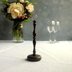 Dark Wood Table Number Holder/ Wedding Table Number Stand DIY