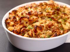 Some call it stuffing, others dressing. This traditional dish is a staple on nearly every Thanksgiving table and the variations are endless. Below are 10 fabulous stuffing recipes (or dressing recipes, if you will!) to whet your holiday appetite. Sausage Sage Stuffing, Best Stuffing, Stuffing Recipes, Turkey Stuffing, Homemade Stuffing, Thanksgiving Side Dishes, Thanksgiving Recipes, Holiday Recipes, Chicken