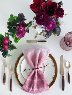 Ombre hand-dyed napkin for your wedding