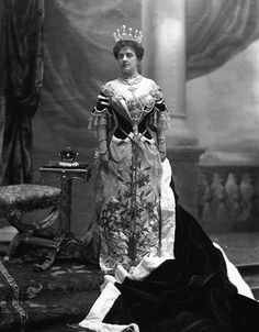 1902 Theresa Vane-Tempest-Stewart, Marchioness of Londonderry at the coronation of King Edward VII and Queen Alexandra by Lafayette Photographic Studio
