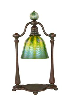 "An Art Nouveau ""Bell"" Desk Lamp by Tiffany Studios 