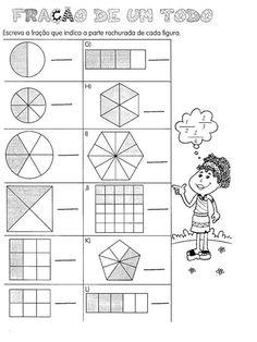 Blog Professor Zezinho : Atividades sobre frações para 5° ano Fractions Worksheets, Kindergarten Math, Professor, Diagram, Teaching, School, Sistema Solar, Exercises, English