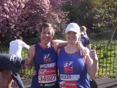 Gail and Heledd from Recruit for Spouses ran the London Marathon for Blind Veterans UK