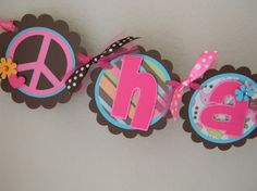 Peace Sign Birthday Banner