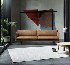 Un canapé en cuir ultra tendance, Muuto