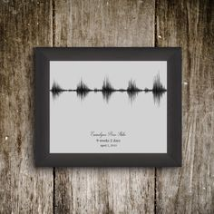 Printable Custom baby heartbeat soundwave by EmmalynnsEssential