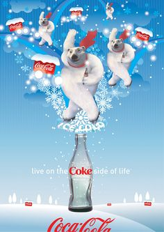 Winter coke illustration
