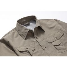 43741a17 Mens Outdoor Detachable Sleeve Quick-drying Shirt Casual Cargo Shirts Cargo  Shirts, Quick Dry
