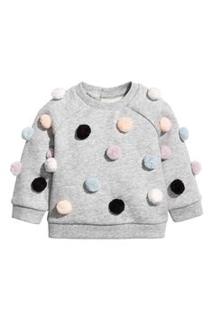 Trendy sweatshirt kids girl h&m Ideas Baby Girl Fashion, Fashion Kids, Amusement Enfants, Toddler Outfits, Girl Outfits, Pom Pom Sweater, Pullover Mode, Baby Kind, Sweater Fashion