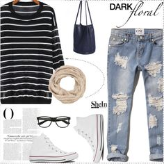A fashion look from September 2015 by sheinside featuring Abercrombie & Fitch, Converse, maurices and Vanity Fair