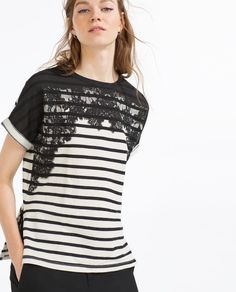 Image 2 of LACE T-SHIRT from Zara