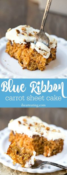 Blue Ribbon Carrot Sheet Cake - old fashioned classic carrot cake recipe with a special icing addition!