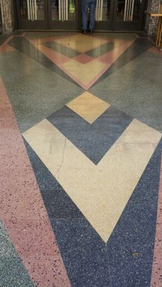 Terrazzo in front of the Eastern Columbia Building