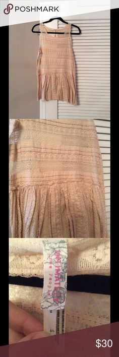 Free People Lace Tank Excellent used condition, only worn a couple times. Free People Tops Tank Tops
