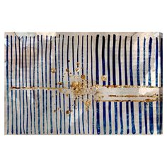 Equally at home in an artful collage or on its own as an eye-catching focal point, this lovely canvas print showcases an abstract stripe motif.