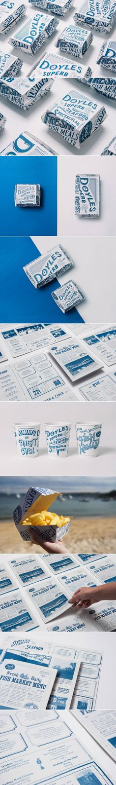 Doyles Seafood Comes With Packaging Inspired By Newspaper Headlines — The Dieline | Packaging & Branding Design & Innovation News