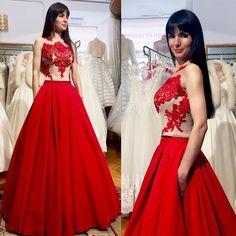 2017 Fashion New Prom Dress, Red Long Prom Dress, Formal Evening Dress