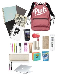 """""""What's in my backpack??i wish lol"""" by maryfasion on Polyvore featuring Victoria's Secret, ban.do, Dinks, Barneys New York, Paper Mate, Michael Kors, Donna Karan, Ilia, Casio and Dyson"""