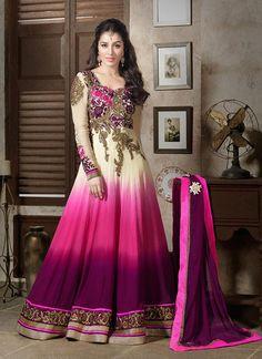 Daniella: Pink Anarkali Suit