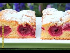 Happy Dish Club: Fluffy sponge cake with sour cherry Cherry Cake, Sour Cherry, Sponge Cake, Meals For One, Easy Desserts, Doughnut, Krispie Treats, Rice Krispies, Cheesecake